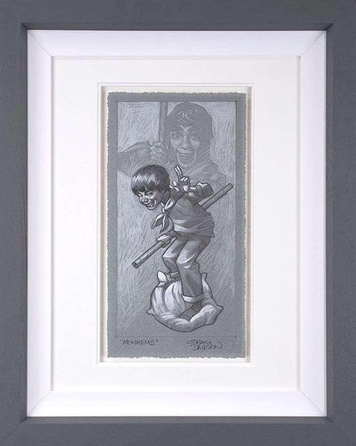 Monkey - (sketch) Framed Art Print by Craig Davison