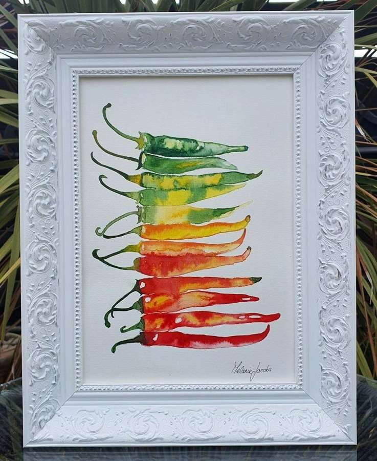 Hot Stuff! - Framed Watercolour Original Art By Melanie Jacobs