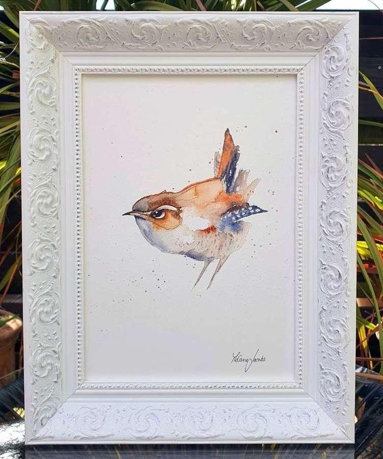 Wren - Framed Watercolour Original Art By Melanie Jacobs
