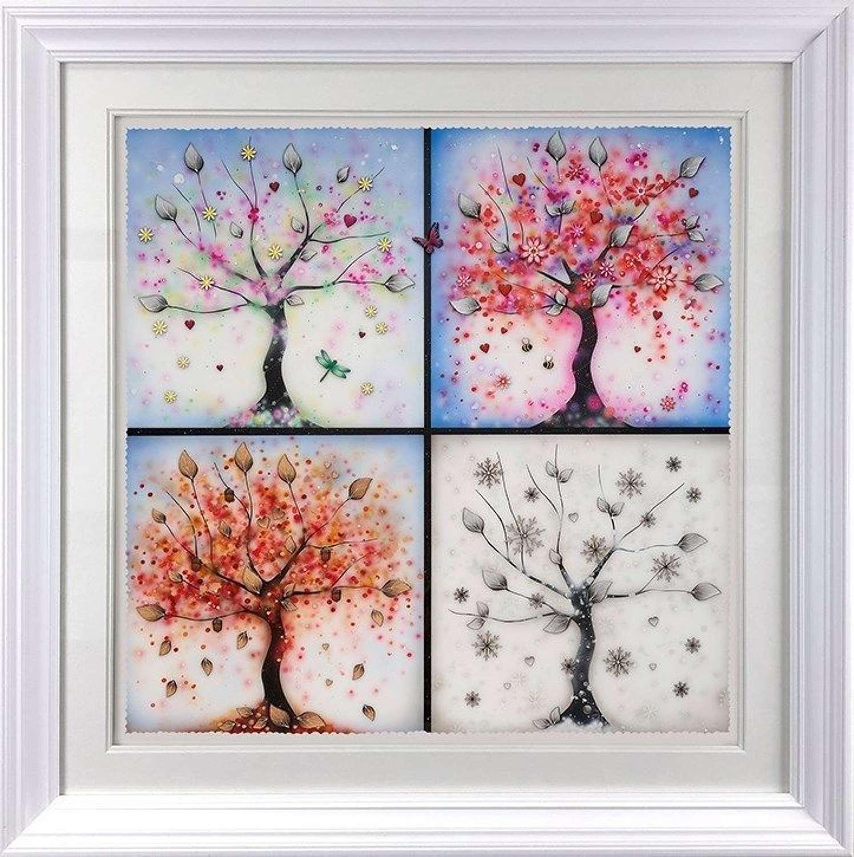 Four Seasons - Framed Art Print by Kealey Farmer