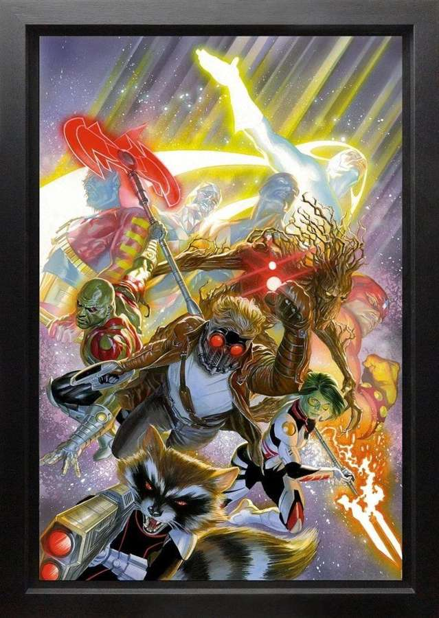 Guardians of the Galaxy Framed Canvas Art Print by Marvel-Alex Ross