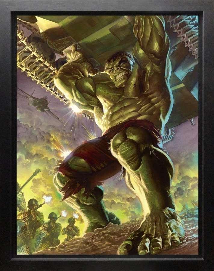 Immortal Hulk Framed Canvas Art Print by Marvel-Alex Ross