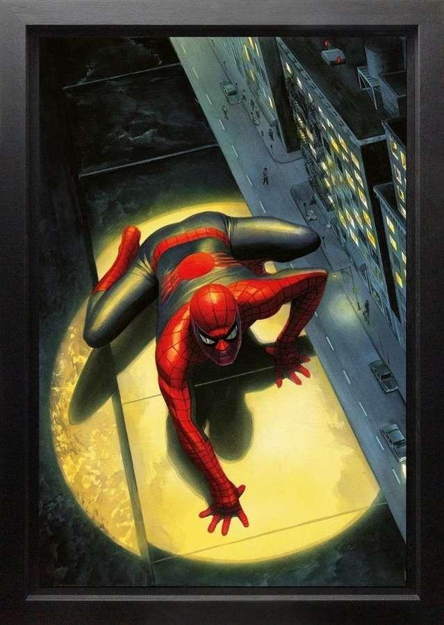 Spectacular Spider-Man Framed Canvas Art Print by Marvel-Alex Ross