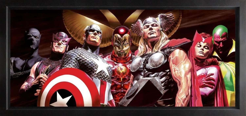 Assemble  Framed Canvas Art Print by Marvel-Alex Ross