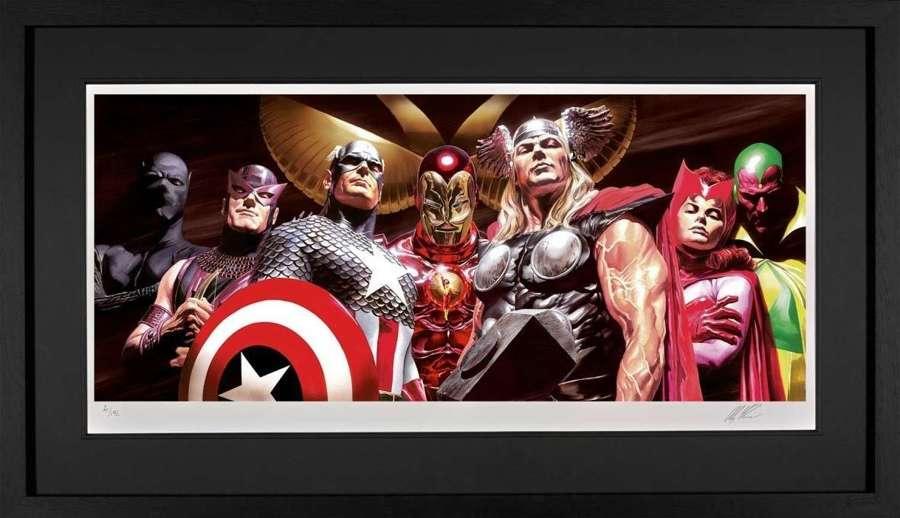 Assemble Framed Art Print by Marvel-Alex Ross