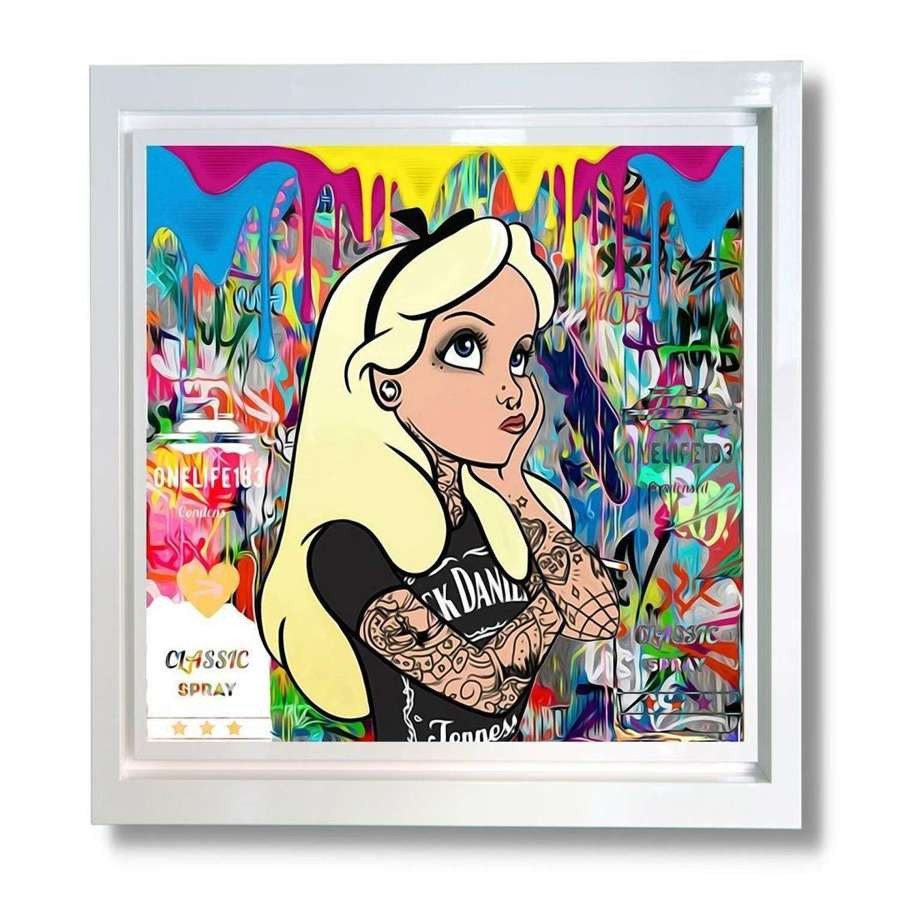 Alice In What The F@%kland Framed Canvas art print by One Life