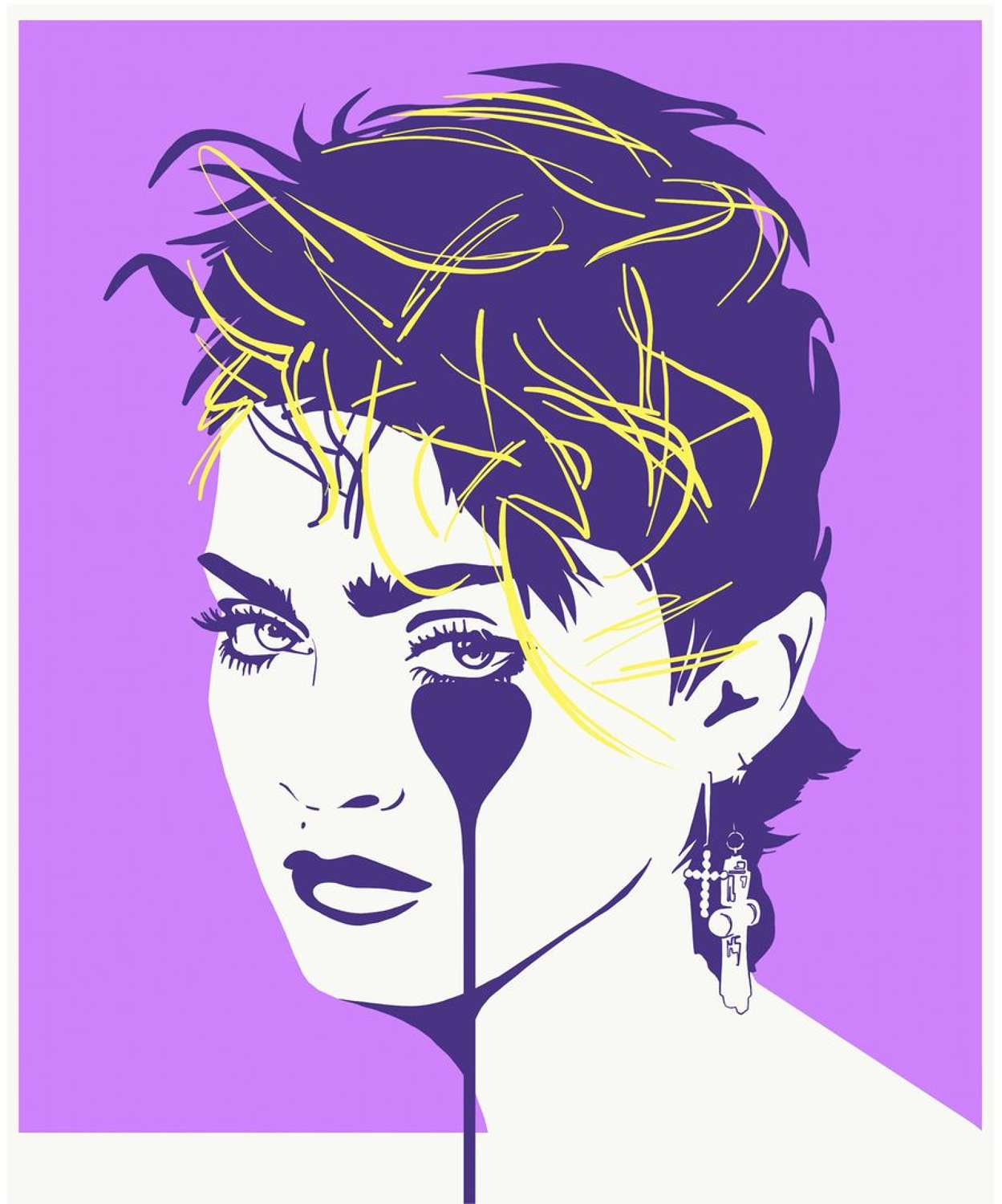 Lucky Star - Madonna - LilacArt Print by Pure Evil