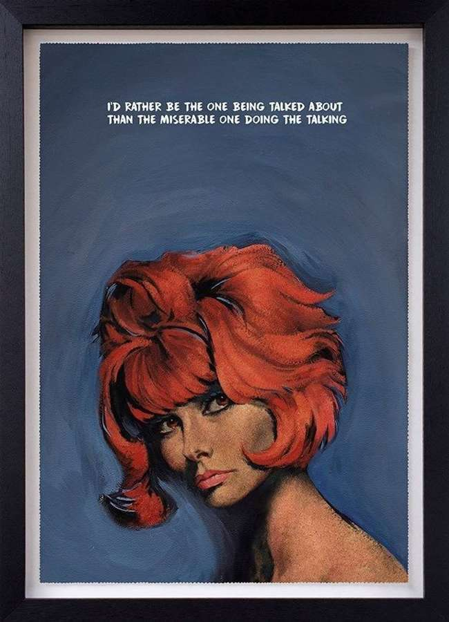 Doing the Talking-FramedArt Print by Mr Controversial