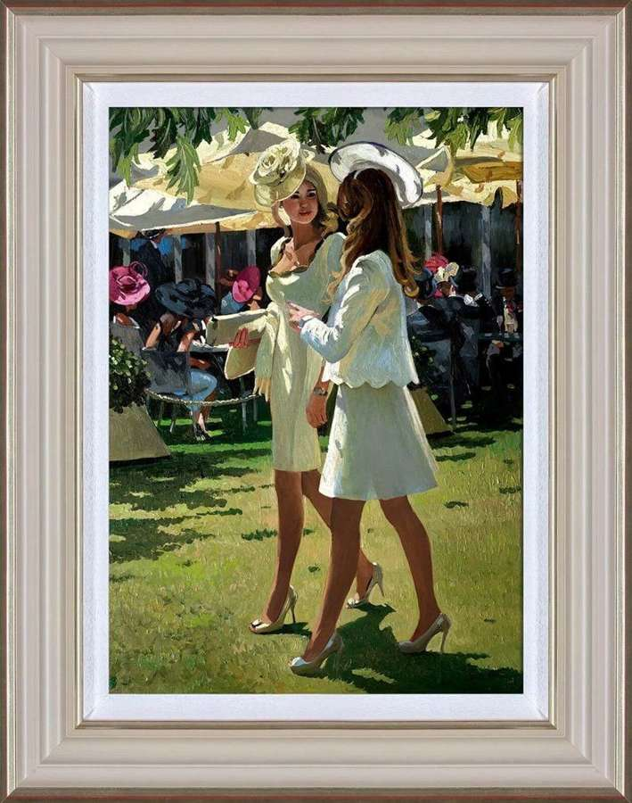 The Colour and Glamour of Ascot  Art Print Sherree Valentin Daines