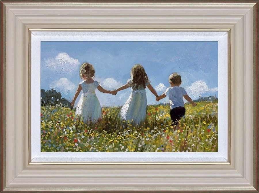 Friendship In The MeadowFramed Art Print  Sherree Valentine Daines