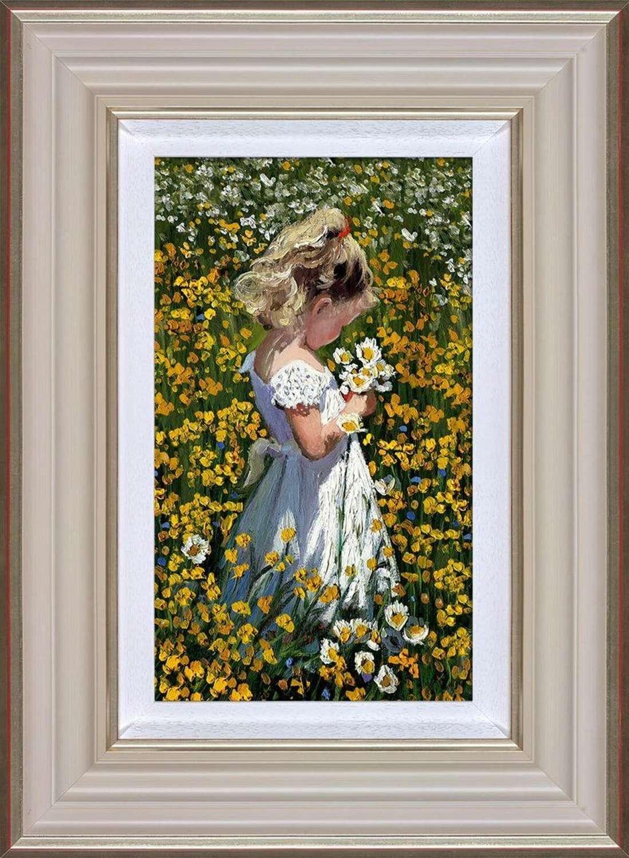 A Posie of Pretty DaisiesFramed Art Print Sherree Valentine Daines