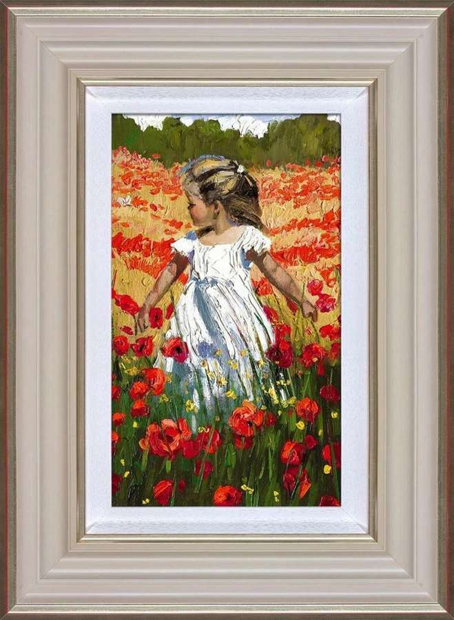 The Butterfly Amongst the Poppies-by Sherree Valentine Daines