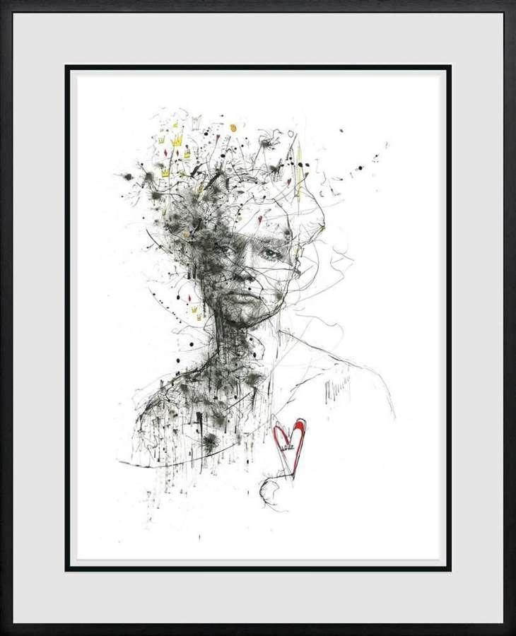 Love - Framed Art Print By Scott Tetlow