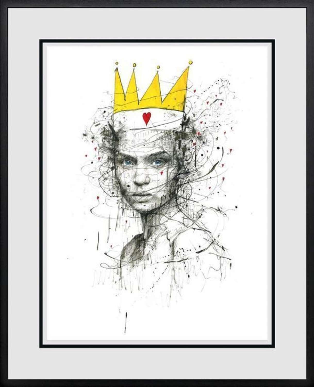 Queen Of Arts - Framed Art Print By Scott Tetlow