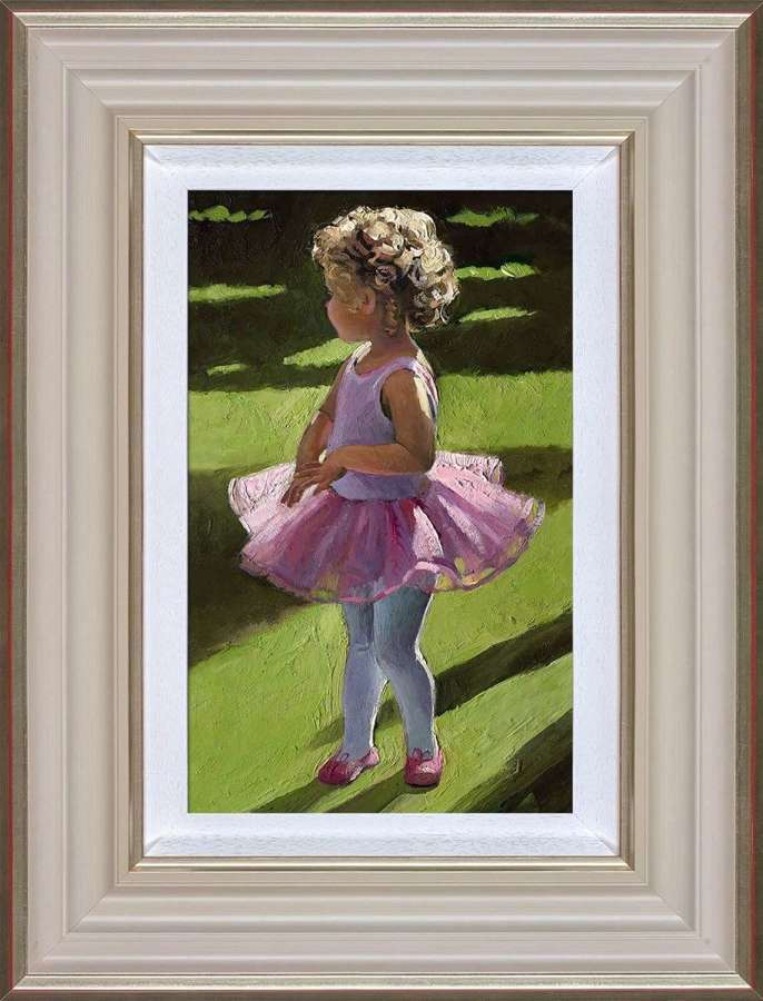 Pretty in Pink Framed Canvas Art Print by Sherree Valentine Daines