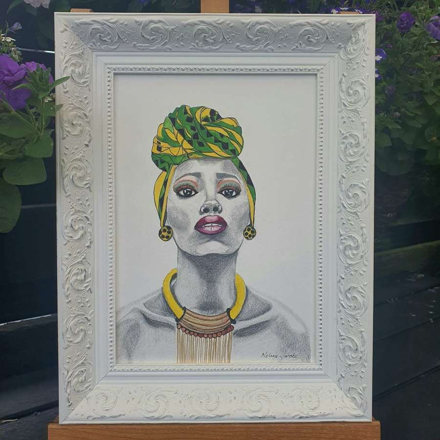 I Am Woman - Framed Watercolour Original Art  By Melanie Jacobs