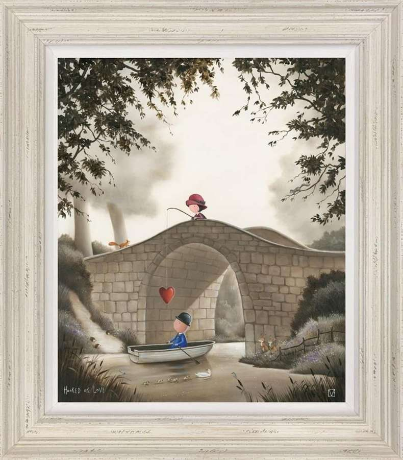 Hooked On Love Framed Art Print By Michael Abrams