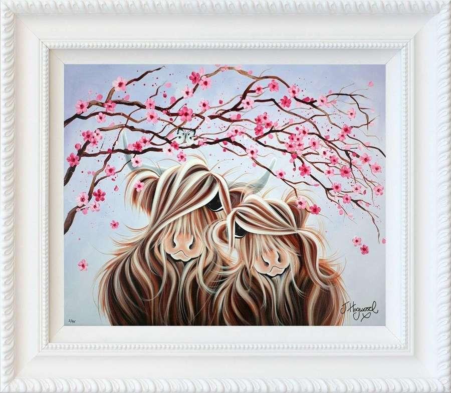 Love Blossoms - framed Art Print by Jennifer Hogwood