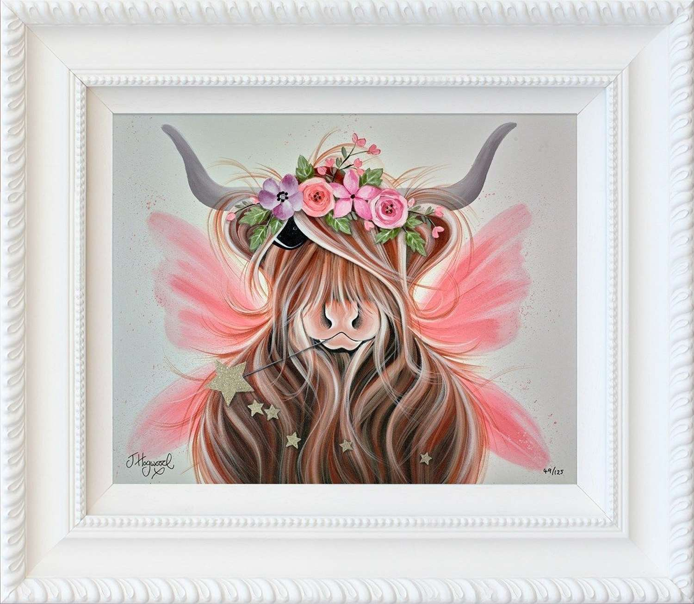 Flower Fairy - Framed Art Print by Jennifer Hogwood