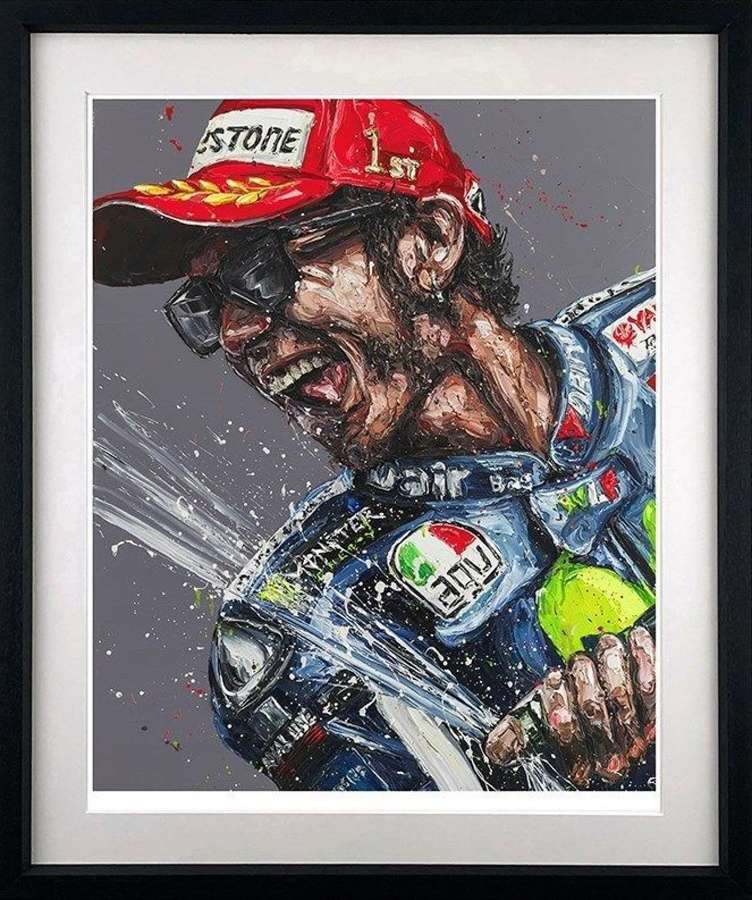 Champagne Rossi - Framed Art Print by Paul Oz