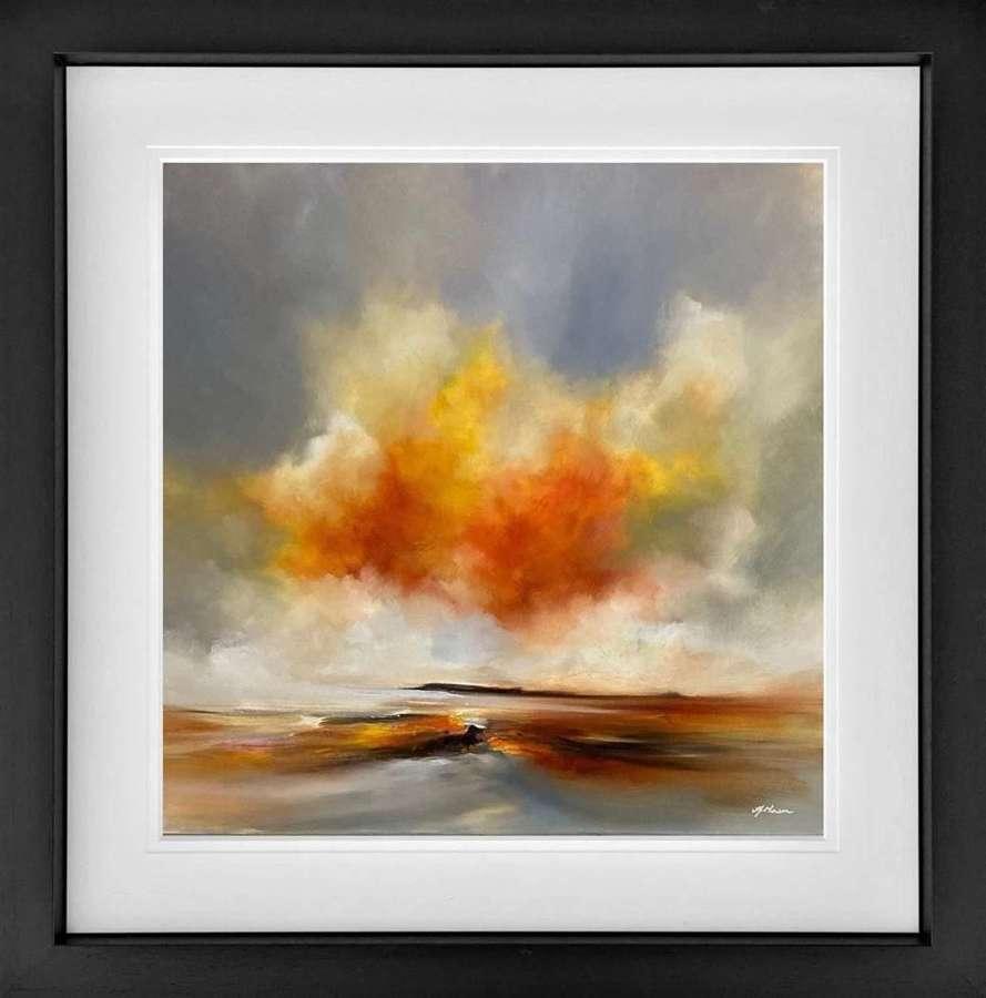 Golden Harmony - Framed Studio Edition by Alison Johnson