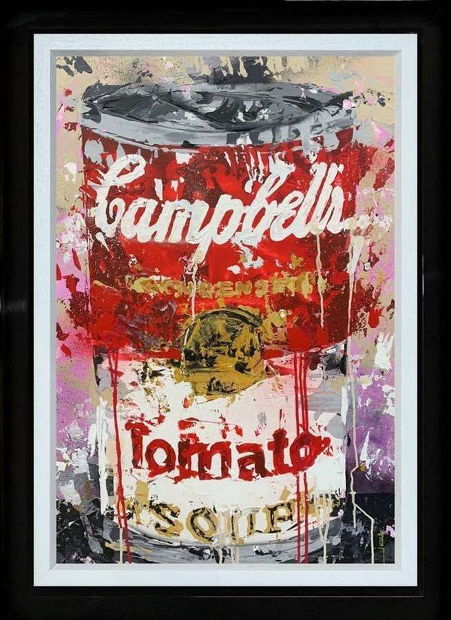 Campbells Soup - Framed Canvas Studio Edition by Jessie Foakes