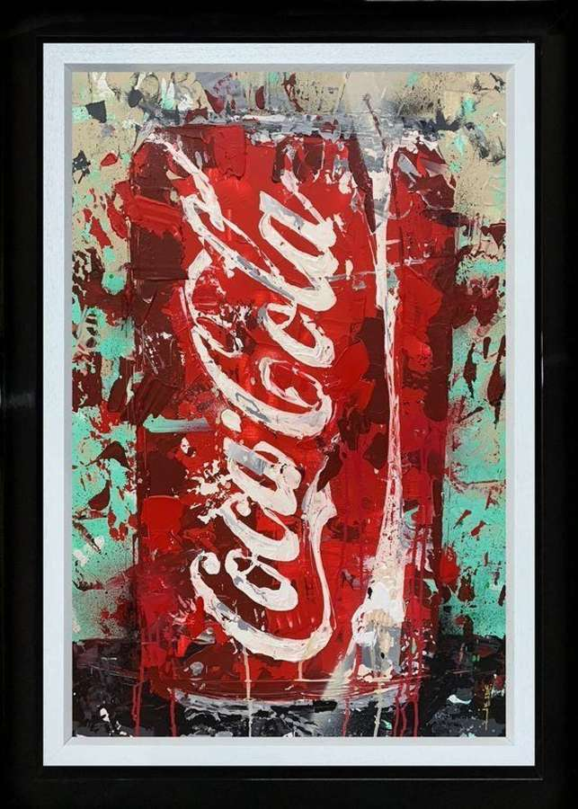 Coca Cola - Framed Canvas Studio Edition by Jessie Foakes