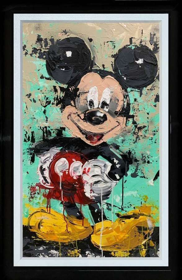 Mickey - Framed Canvas Studio Edition by Jessie Foakes