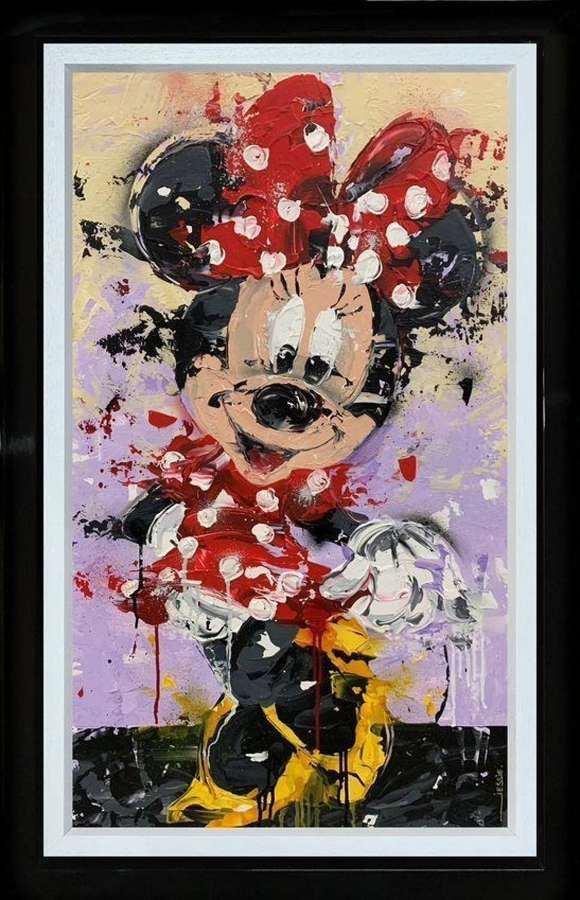 Minnie - Framed Canvas Studio Edition by Jessie Foakes
