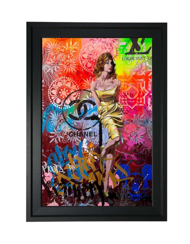 Miss Midas Framed Aluminium Art Print by Rob Hefferan