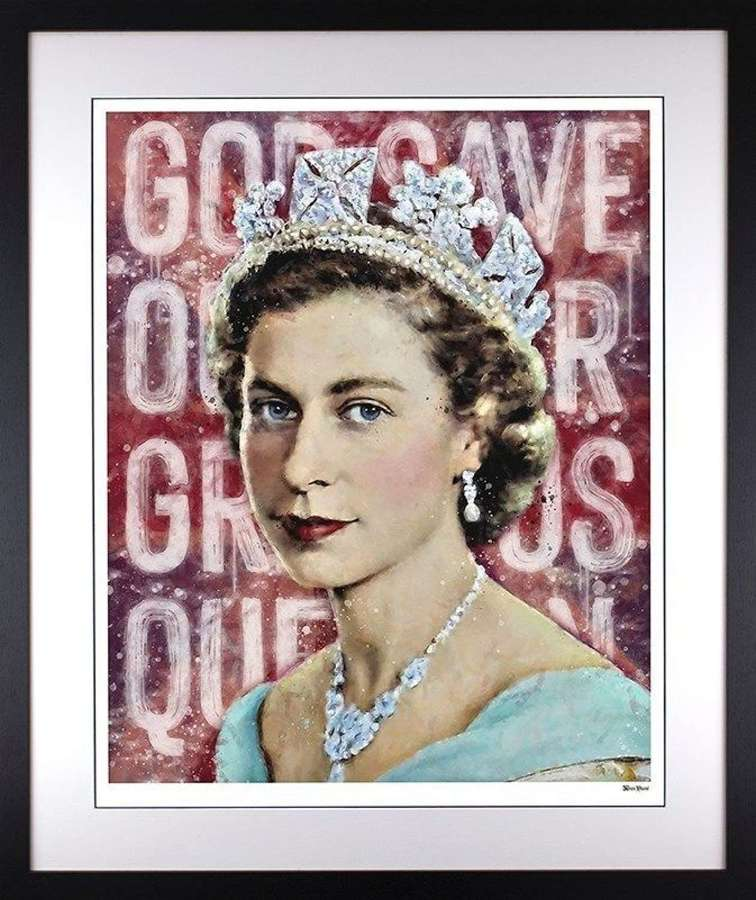 Our Gracious Queen - Framed Art Print by Monica Vincent