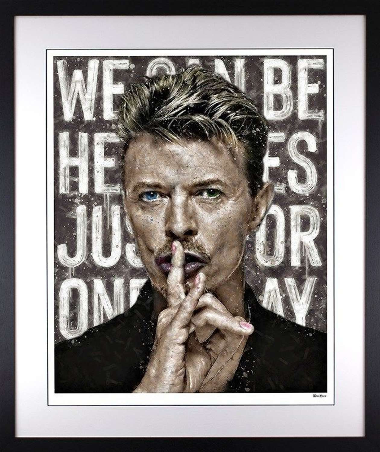 We Can Be Heroes - Framed Art Print by Monica Vincent