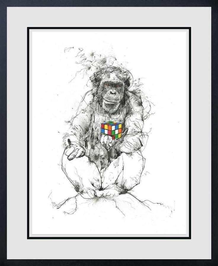 Puzzled - Framed Art Print by Scott Tetlow