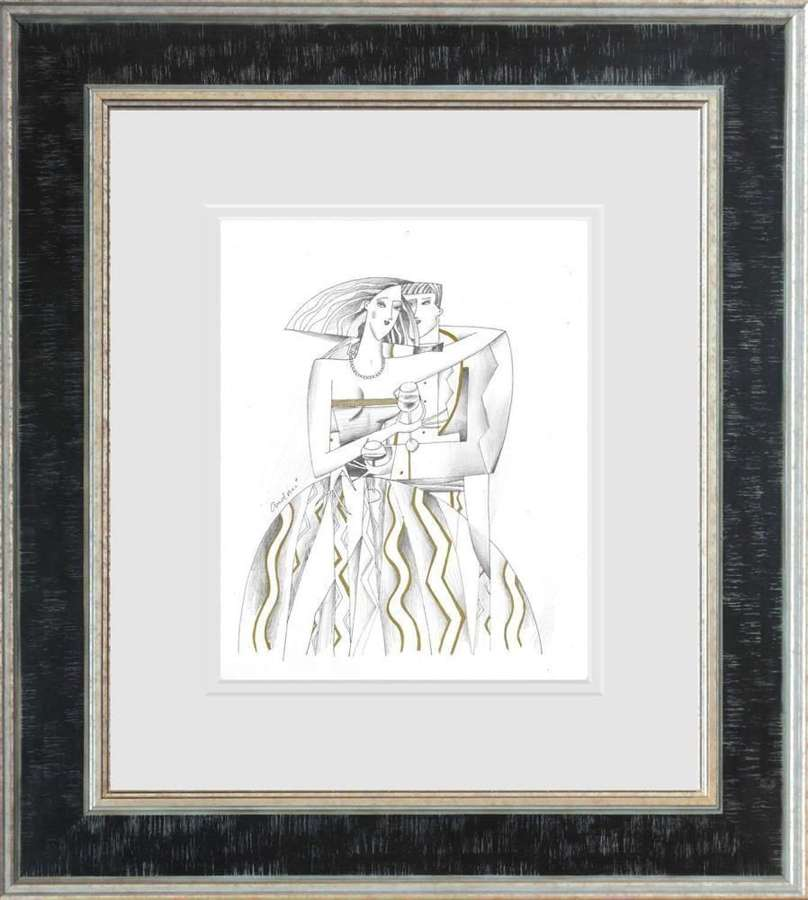 Lord And Lady III - Framed Sketch by Andrei Protsouk