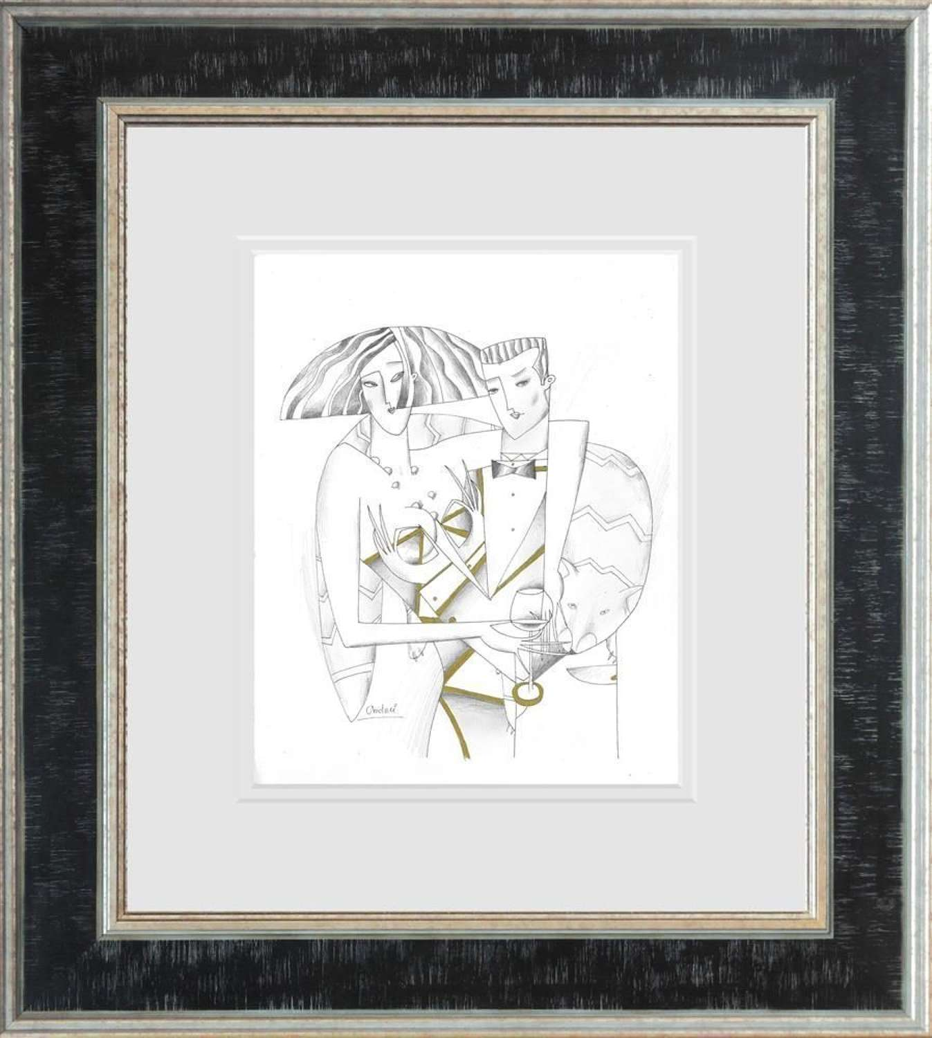 Lord And Lady II- Framed Sketch by Andrei Protsouk