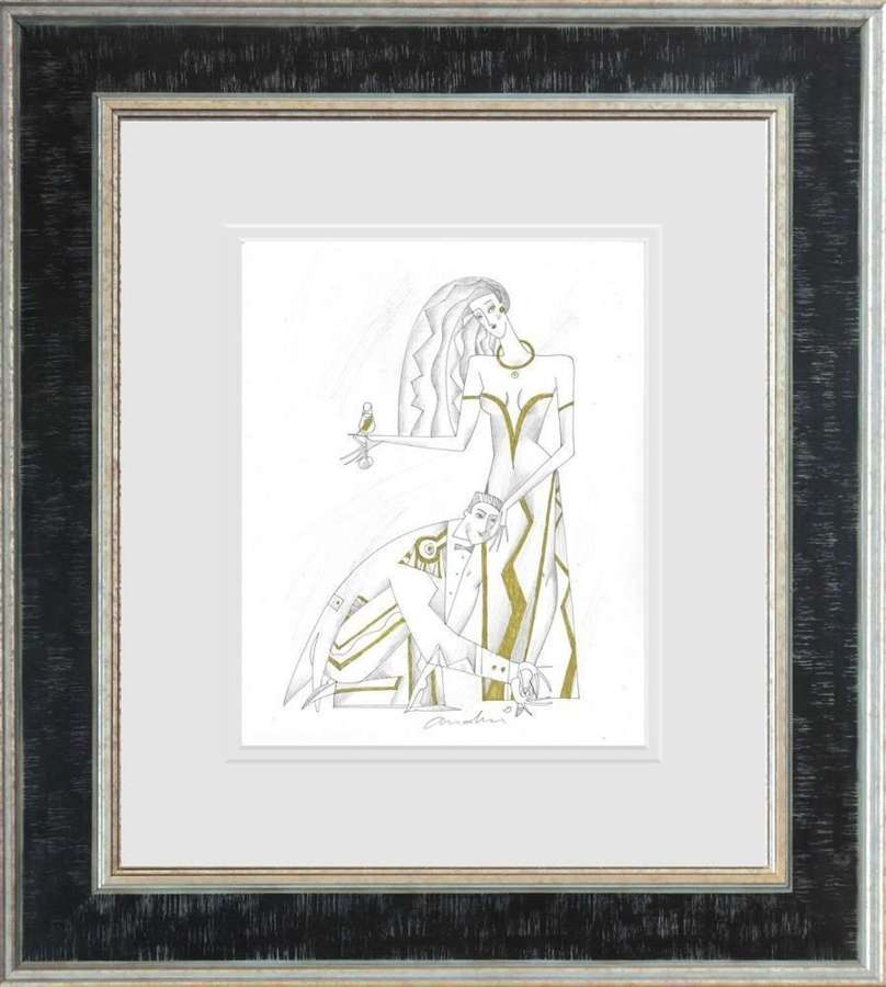 Lord And Lady I- Framed Sketch by Andrei Protsouk