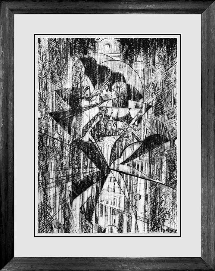 Avenue Of Hearts - Framed Sketch by Andrei Protsouk