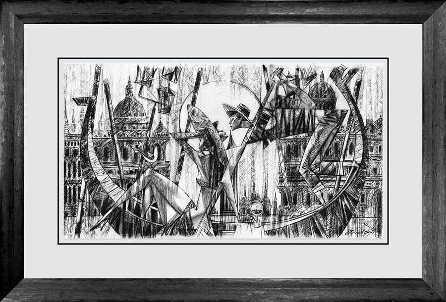 Love In Venice - Framed Sketch by Andrei Protsouk