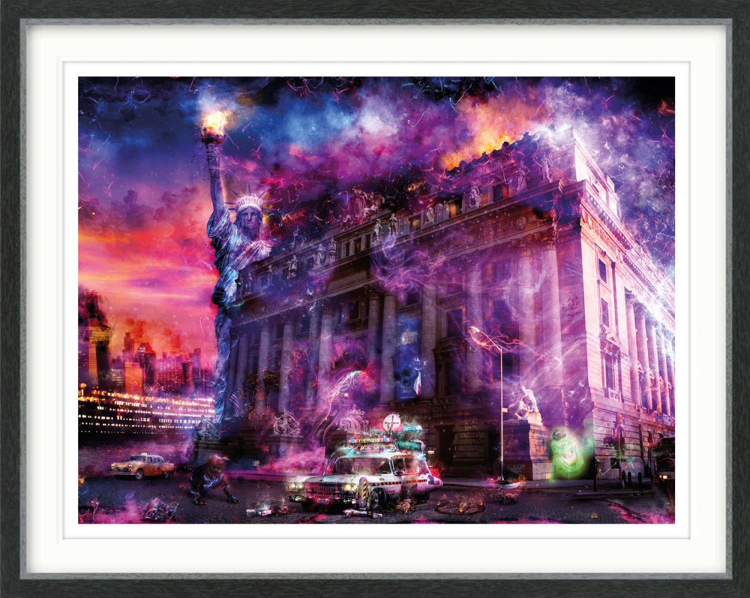 Bustin' Ghosts (Ghostbusters) - Framed Art Print by Mark Davies