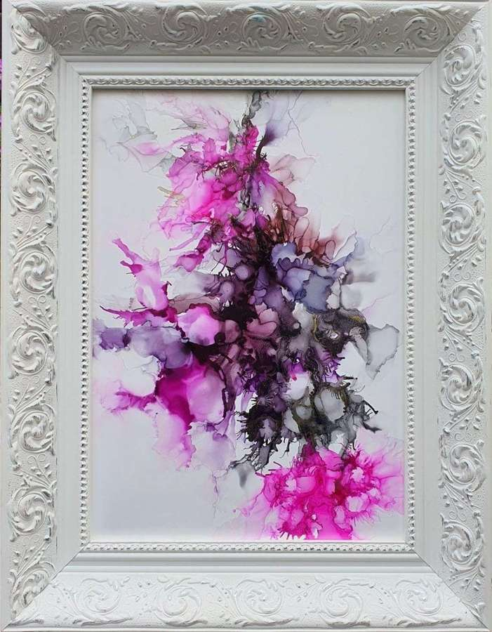 It's A Feeling That You Get - Framed Original Art  By Melanie Jacobs