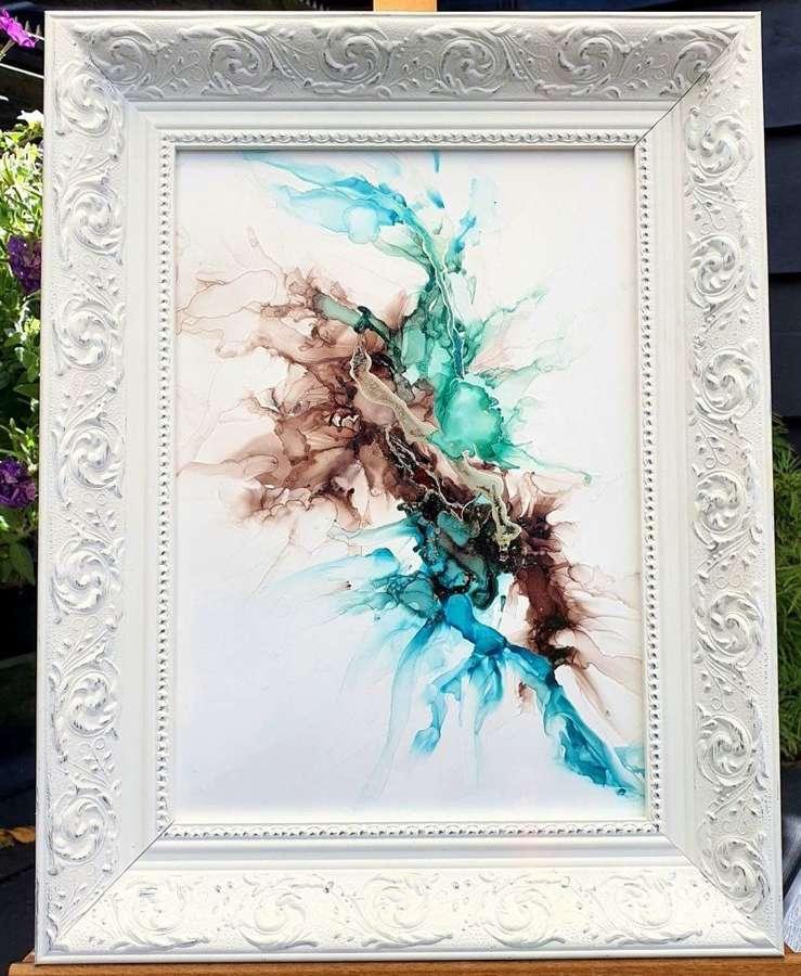 Falling Like Stars - Framed Original Art  By Melanie Jacobs