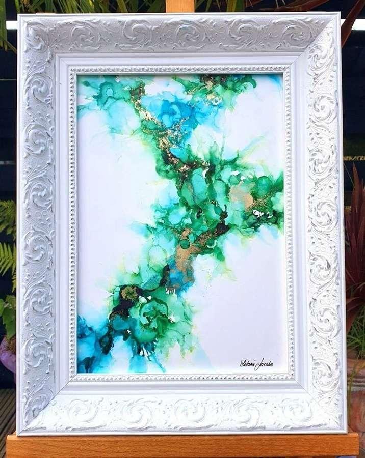 Falling Into You - Framed Original Art  By Melanie Jacobs