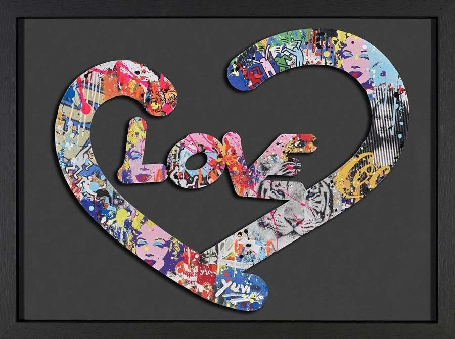 Love - Framed Art Print by Yuvi