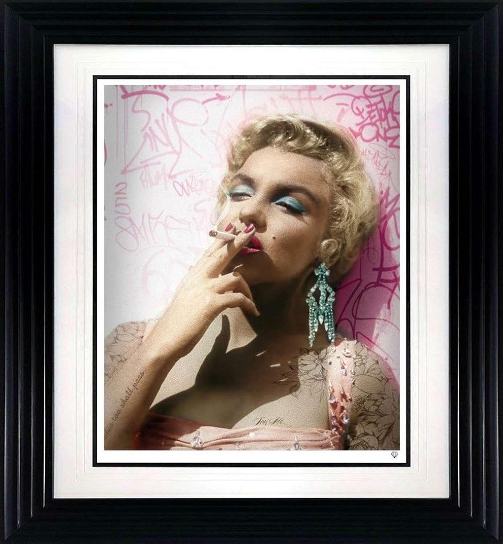 Smoking Gun - Marilyn - Colour - Framed Art Print by JJ Adams