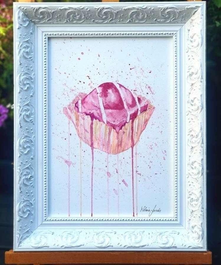 Pink French Fancie - Framed Original Artwork by Melanie Jacobs