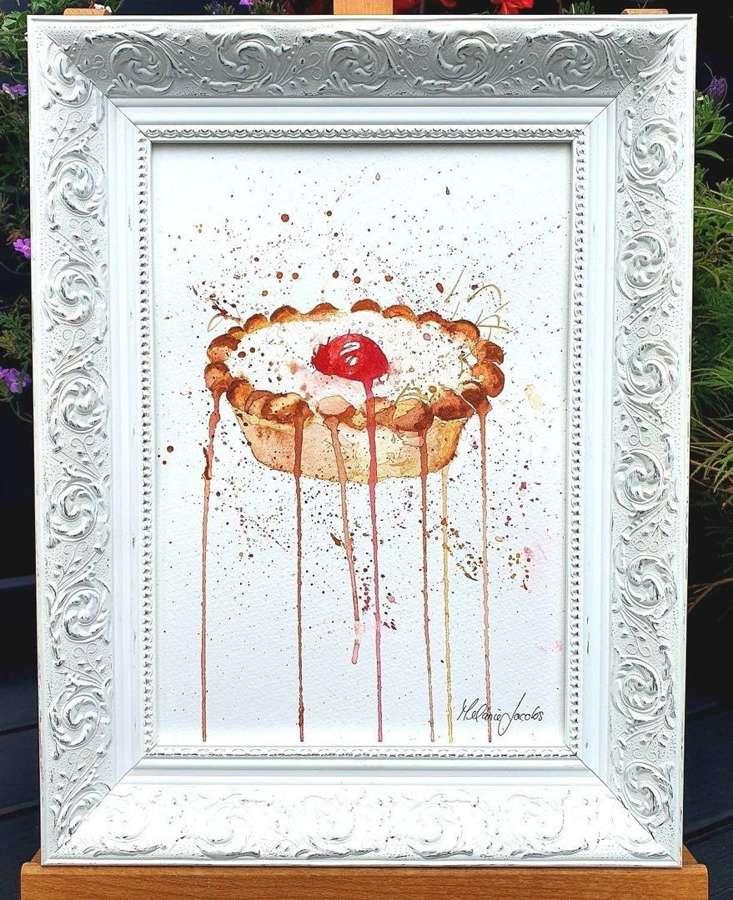 Bakewell Tart - Framed Original Artwork by Melanie Jacobs