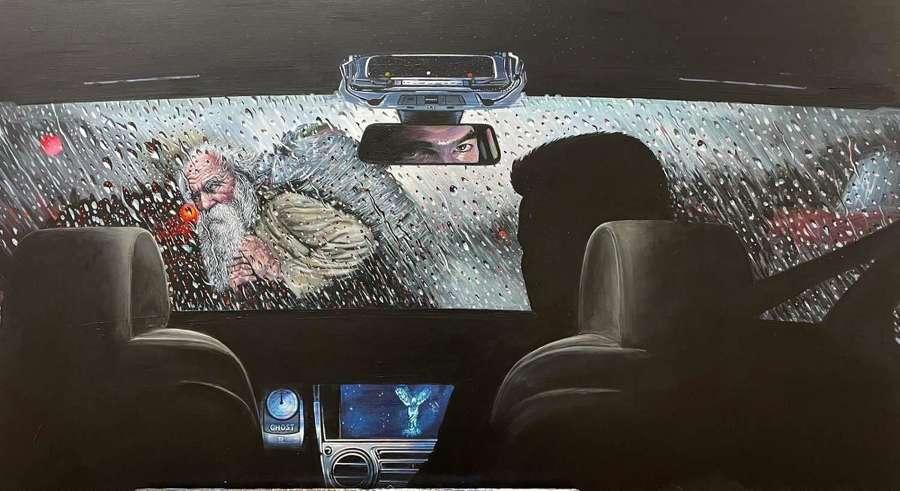 Ghost Original Artwork By Gerry Kinch