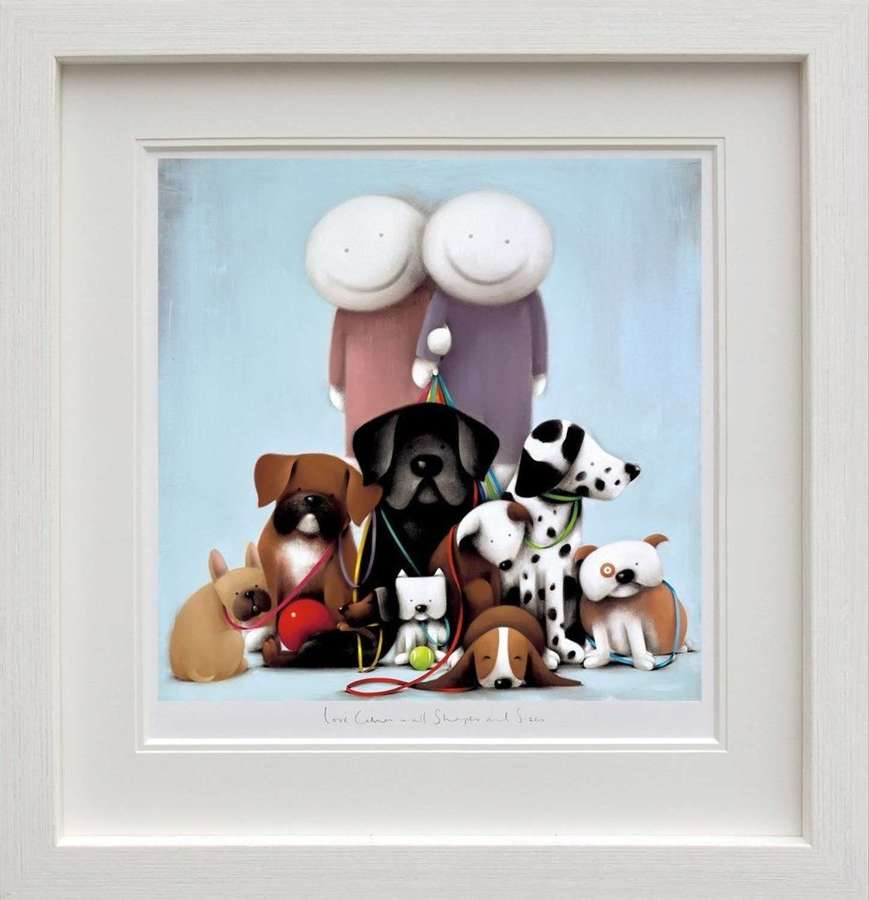 Love Comes in All Shapes and Sizes - Framed Art Print by Doug Hyde