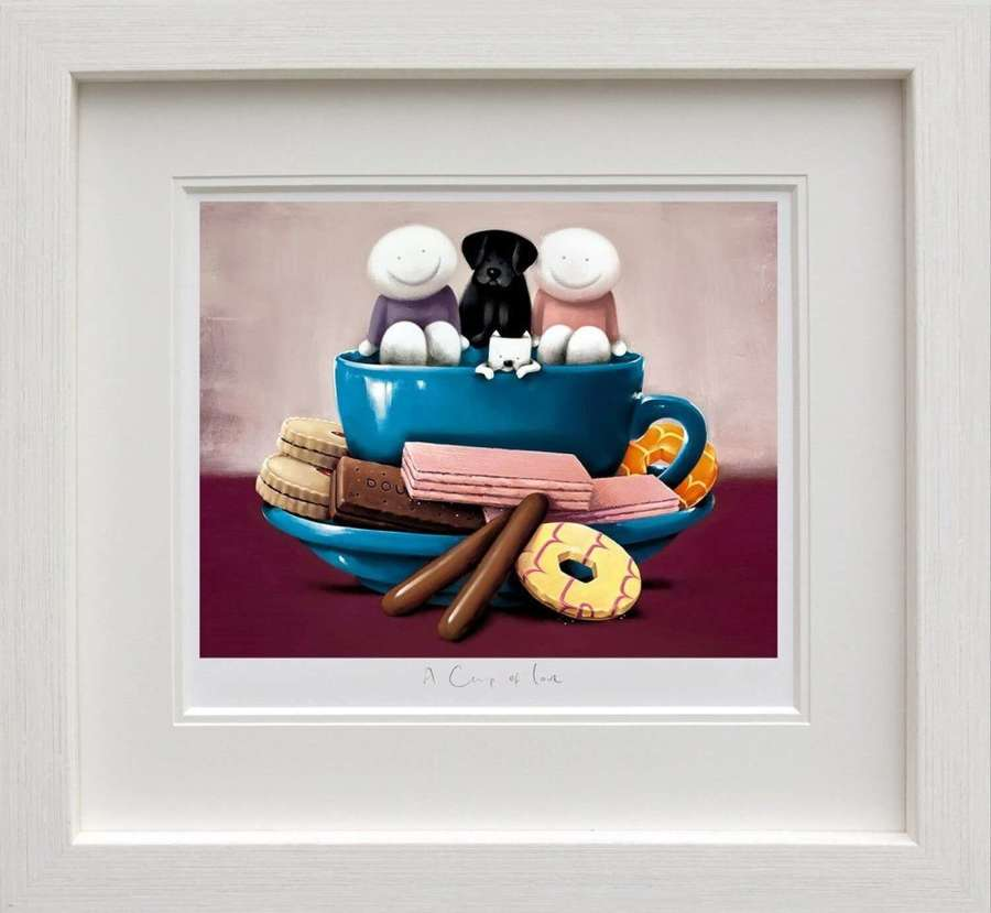 A Cup of Love - Framed Art Print by Doug Hyde
