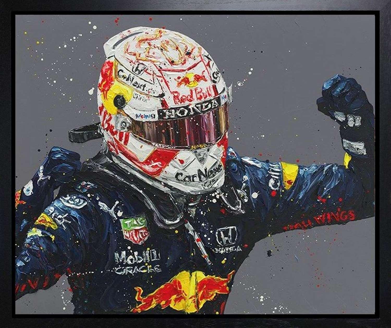 Monaco Max - Framed Canvas Art Print by Paul Oz